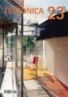 Portada de Tectonica Nº 23. Dossier Construccion V : Encuentro Con El Terren O