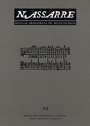 Portada de Nassarre Nº 24: Revista Aragonesa De Musicologia