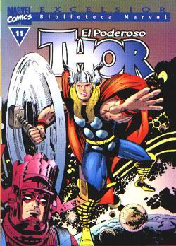 Portada de El Poderoso Thor Nº 11 (biblioteca Marvel)