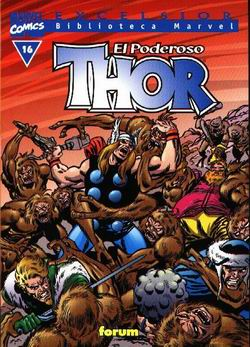 Portada de El Poderoso Thor Nº 16 (biblioteca Marvel)
