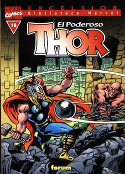 Portada de El Poderoso Thor Nº 18 (biblioteca Marvel)