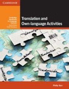 Portada de Translation And Own-language Activities