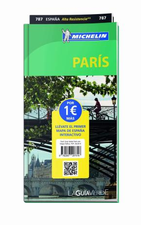 Portada de Pack Guia Verde Paris Con Mapa Trafico