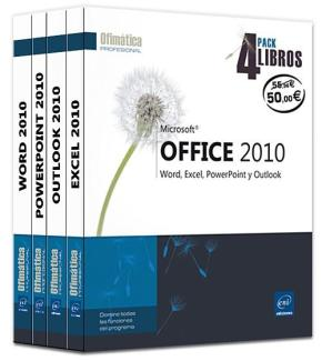 Portada de Microsoft Office 2010: Word, Excel, Powerpoint Y Outlook – Pack 4 Libros