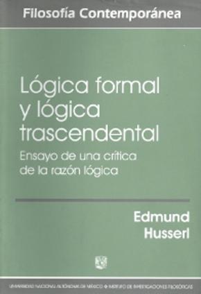 Portada de Logica Formal Y Logica Trascendental