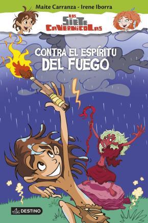 Portada de Los Siete Cavernicolas 1: Contra El Espiritu Del Fuego