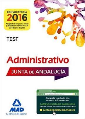 Portada de Administrativos De La Junta De Andalucia Turno Libre. Test (3ª Ed.)