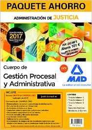 Portada de Paquete Ahorro Gestion Procesal Y Administrativa (turno Libre). (incluye Temario Volumen 1, 2 Y 3; Test; Supuestos