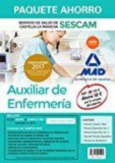 Portada de Paquete Ahorro Auxiliar De Enfermeria Del Servicio De Salud De Castilla-la Mancha (sescam)                                       (incluye Temario Comun Y Test; Temarios Especificos Volumenes 1 Y 2;