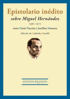 Portada de Epistolario Inedito Sobre Miguel Hernandez