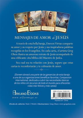 Portada de Mensajes De Amor De Jesus: 44 Cartas Oraculo De Inspiracion