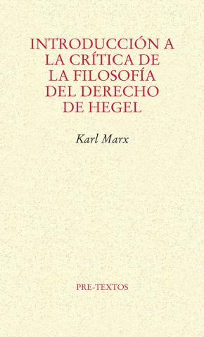 Portada de Introduccion A La Critica De La Filosofia Del Derecho De Hegel