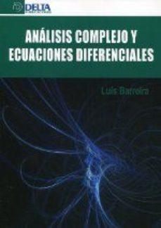 Portada de Analisis Complejo Y Ecuaciones Diferenciales