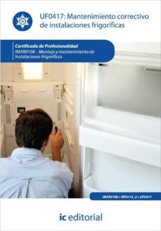 Portada de (i.b.d.)mantenimiento Correctivo De Instalaciones Frigorificas