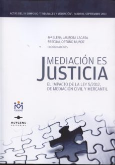 Portada de Mediacion Es Justicia