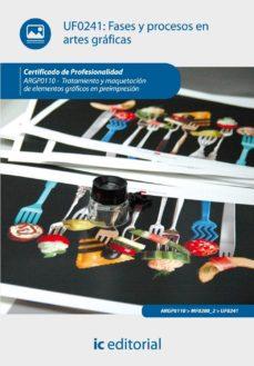 Portada de (i.b.d.)fases Y Procesos En Artes Graficas. Argp0110 – Tratamiento Y  Maquetacion De Elementos Graficos En Preimpresion