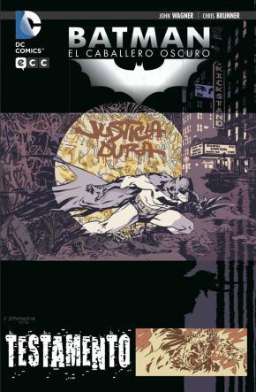 Portada de Batman: Caballero Oscuro. Testamento