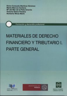Portada de Materiales De Derecho Financiero Y Tributario, I. Parte General