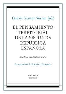 Portada de El Pensamiento Territorial De La Segunda Republica Española