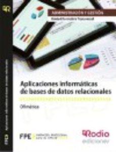Portada de Aplicaciones Informaticas De Bases De Datos Relacionales