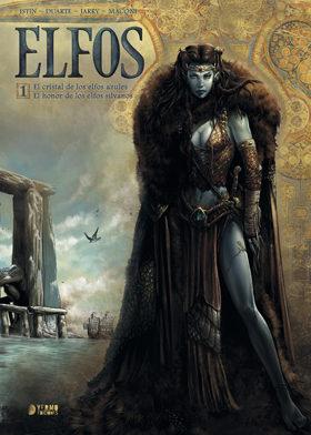 Portada de Elfos. Integral Nº 1: El Cristal De Los Elfos Azules – El Honor De Los Elfos Silvanos (2ª Ed.)