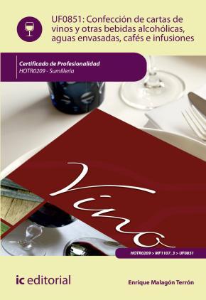 Portada de (i.b.d.) Confeccion De Cartas De Vinos, Otras Bebidas Alcoholicas, Aguas Envasadas, Cafes E Infusiones. Hotr0209 – Sumilleria