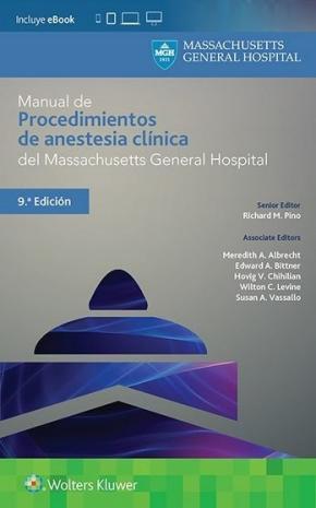 Portada de Manual De Procedimientos De Anestesia Clinica Del Massachusetts General Hospital