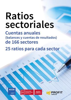 Portada de Ratios Sectoriales: Cuentas Anuales (balances Y Cuentas De Resultados) De 166 Sectores. 25 Ratios Por Sector