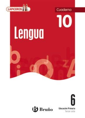 Portada de Lapiceros Lengua 6 Cuaderno 10 (6º Primaria)