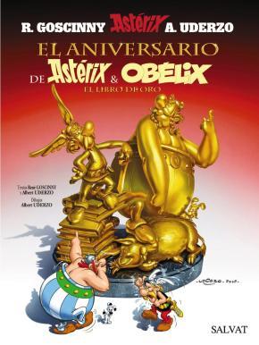 Portada de Asterix 34: El Aniversario De Asterix Y Obelix: El Libro De Oro (50 Aniversario)
