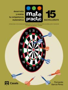 Portada de Matematicas Bachillerato Cuaderno Matepractic Nº 15 Mec (ed 2015)