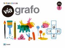 Portada de Via Grafo 4 Años Talleres Rincones Trotacaminos Educacion Infantil Carpeta Castellano Mec