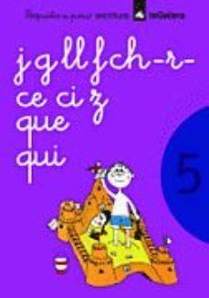 Portada de Poquito A Poco Cuaderno 5 (escritura J,g,ll,f,ch,r,ce,ci,z,que,qu I)