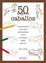 Portada de 50 Dibujos De Caballos
