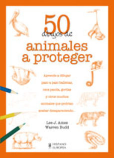 Portada de 50 Dibujos De Animales A Proteger