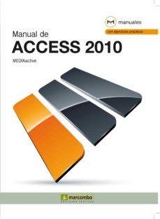 Portada de Manual De Access 2010