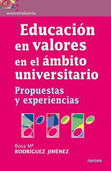 Portada de Educacion En Valores En El Ambito Universitario
