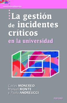 Portada de La Gestion De Incidentes Criticos En La Universidad