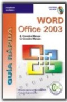 Portada de Word Office 2003: Guia Rapida (incluye Cd-rom)