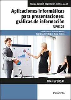Portada de Uf0323 Aplicaciones Informaticas Para Presentaciones: Graficas De Informacion