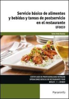 Portada de Uf0059 – Servicio Basico De Alimentos Y Bebidas Y Tareas De Postservicio En El Restaurante