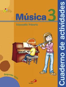 Portada de Musica 3º Educacion Primaria  Acorde  Cuaderno