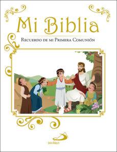 Portada de Mi Biblia: Recuerdo De Mi Primera Comunion