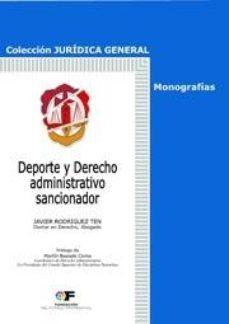 Portada de Deporte Y Derecho Administrativo Sancionador