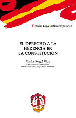 Portada de Derecho A La Herencia En La Constitucion
