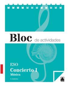 Portada de Cuaderno Concierto Musica I 1º Eso Ed 2015