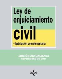 Portada de Ley De Enjuiciamiento Civil Y Legislacion Complementaria (13ª Ed)