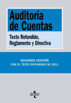 Portada de Auditoria De Cuentas: Texto Refundido, Reglamento Y Directiva (2ª Ed.)