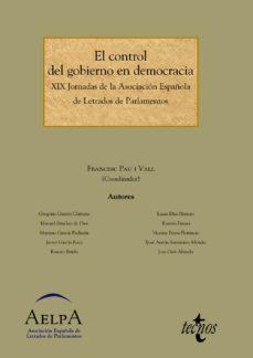 Portada de El Control Del Gobierno En Democracia