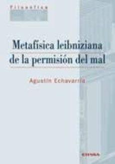 Portada de Metafisica Leibzniziana De La Permision Del Mal